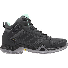 adidas TERREX AX3 Mid Gore-Tex Chaussures de randonnée Femme, grey five/core black/clear mint